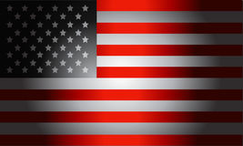 Americano de la bandera negra Fotografía de archivo