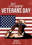 Americano de la tarjeta de felicitación del día de veteranos libre illustration