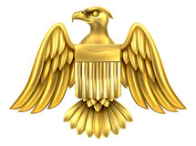 Americano de oro Eagle Shield Fotografía de archivo libre de regalías
