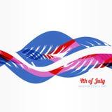 Americano del estilo de la onda el 4 de julio Imagenes de archivo