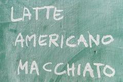 Americano dessiné sur le tableau noir Photographie stock