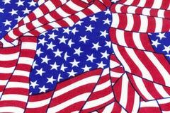 Americano dibujado mano de la bandera Foto de archivo