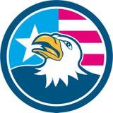 Americano Eagle Head Flag Side Cartoon calvo Foto de archivo libre de regalías