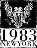 Americano Eagle Linework Vector Fotografie Stock Libere da Diritti