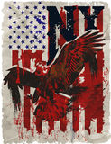 Americano Eagle Linework Vector Fotografie Stock