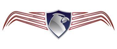 Americano Eagle Logo Imagenes de archivo