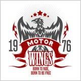 Americano Eagle Motorcycle Club Emblem Immagine Stock Libera da Diritti