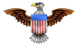 Americano Eagle Shield Foto de archivo