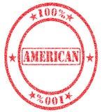 Americano el ciento por ciento Fotografía de archivo libre de regalías