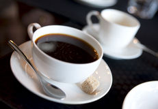 Americano with espresso cup in background Royalty Free Stock Photography