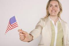 Americano feliz Imagens de Stock