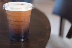 Americano glacé de café noir Photos libres de droits