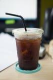 Americano glacé de café noir Photographie stock