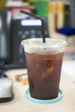 Americano glacé de café noir Images libres de droits