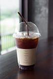 Americano glacé de café ou café noir glacé Photographie stock