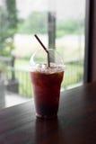 Americano glacé de café ou café noir glacé Photographie stock libre de droits