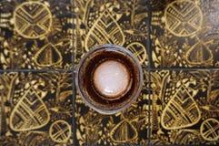 Americano glacé en verre de vintage Image libre de droits