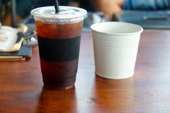 Americano glacé ou café noir Photo libre de droits