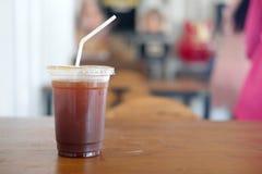Americano glacé ou café noir glacé Image libre de droits