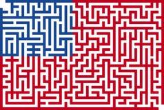 Americano Maze Flag Imagen de archivo