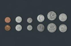 Americano-monedas Fotografía de archivo libre de regalías