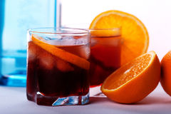 Americano & Negroni cocktail Royalty Free Stock Images
