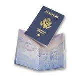 Americano, passaporti degli Stati Uniti, isolati Fotografie Stock Libere da Diritti