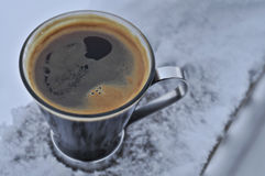 Americano. In the snow Royalty Free Stock Image