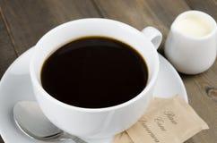 Americano svart kaffe Arkivfoton