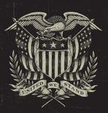 Americano tirado mão Eagle Imagens de Stock