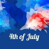 Americano 4to del fondo de julio stock de ilustración