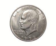 Americano uma moeda Eisenhower do dólar Foto de Stock Royalty Free