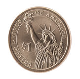 Americano una moneda del dólar Foto de archivo