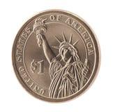 Americano una moneta del dollaro Fotografia Stock