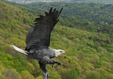 Americano volante Eagle Statue Fotografia Stock Libera da Diritti