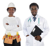 Americanos africanos doutor e coordenador fotografia de stock