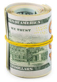 Americans dollars in roll Royalty Free Stock Images