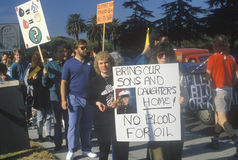 Americans protesting war in Middle East, Los Angeles, California Stock Photos
