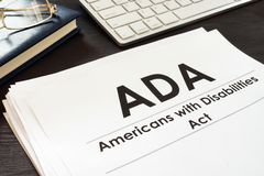 Free Americans With Disabilities Act ADA And Glasses. Royalty Free Stock Photos - 125654378