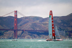 Americas Cup Sailboat Race Stock Photography