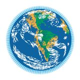 Americas earth doodle Royalty Free Stock Photography