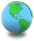 Americas on Earth Stock Image
