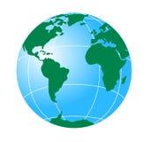 americas globe wskazujący Zdjęcia Royalty Free