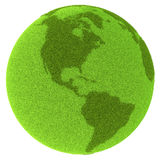 Americas on green planet Stock Photography