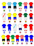 Americas Jerseys Football Kits Royalty Free Stock Photo