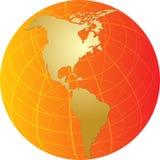americas kuli ziemskiej ilustracyjna mapa Obrazy Stock
