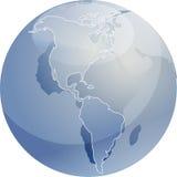 americas kuli ziemskiej ilustracyjna mapa Zdjęcie Royalty Free