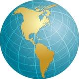 americas mapa Zdjęcia Stock