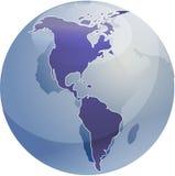 americas mapa Zdjęcie Royalty Free