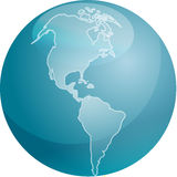 americas mapy sfera Zdjęcia Stock